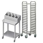 Wózki, pomocniki kelnerskie i dystrybutory